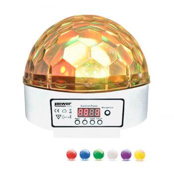 Demie sphère à led 6x3W RGBWAP - finition blanche