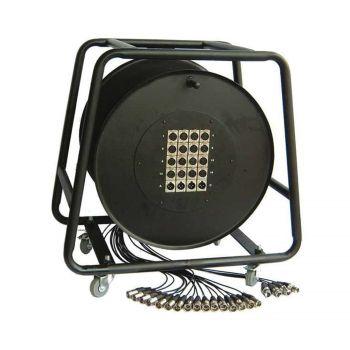 Multipaire / Enrouleur mobile 16-4 Xlr 30m - 4 roulettes