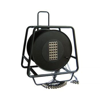 Multipaire / Enrouleur mobile 24-4 Xlr 30m - 4 roulettes