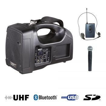 Sono Portable + USB + 1 Micros Main + 1 Body Pack Serre-Tête + Bluetooth