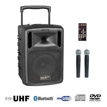 Sono portable CD MP3+USB+DIVX+2 micros main+bluetooth