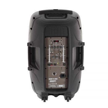 Sono portable 15'' sur batterie + 1 micro main VHF + 1 micro serre-tête