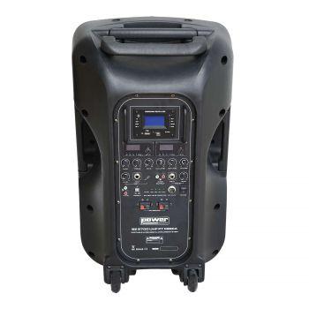 Sono portable MP3+USB+2 micros main UHF+2 serres-tête