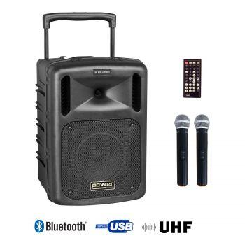 Sono portable CD MP3+USB+Bluetooth+DIVX + 2 Micros main UHF
