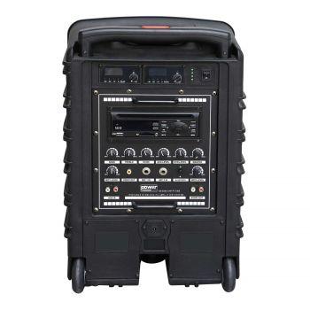 Sono portable CD MP3+USB+Bluetooth+DIVX + 2 Micros main UHF + 2 Micros serre-tête