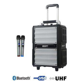 Sono Portable 250W sur batterie+2 micro main UHF