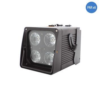 Pack flight case et 6 projecteurs MOVECOLOR IP65