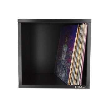 Meuble de rangement noir pour 120 vinyles