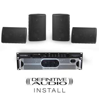 PACK INSTALL 4xNEF8 BL + 1xQUAD300D + 1xMEDIA PLAYER ONE