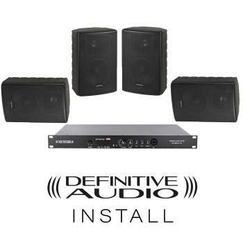 PACK INSTALL 4xNEF5 BL + 1xMEDIA AMP ONE