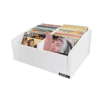 Meuble blanc pour vinyles 45 tours