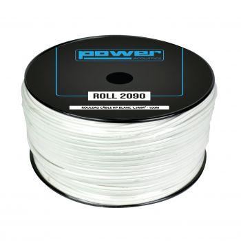 Rouleau Câble HP Blanc 1,5mm² - 100m